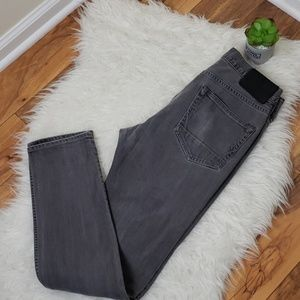All  Saints cigarette washed gray jeans